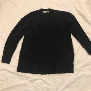 Black fuzzy LOFT cardigan